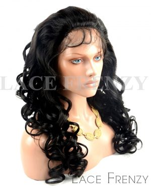 Meagan- Indian Remy Hair - Bouncy Curls- Full Lace Wig
