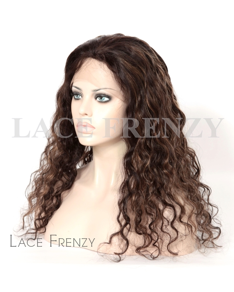 Kayah - Very Wavy -Brazilian Virgin Human Hair - Silk Top Full Lace Wig