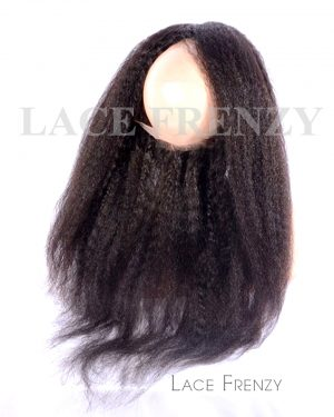 Kinky Yaki Straight -Virgin Human Hair - Silk Base 360 Lace Frontal