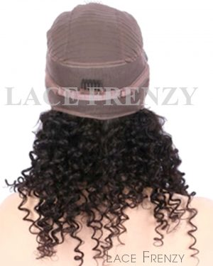Brazilian Virgin Human Hair -Curly- 360 Frontal Wig