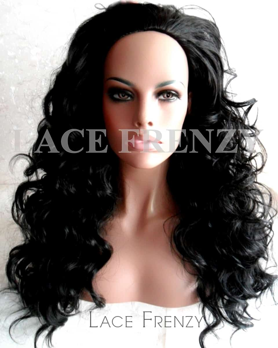 Body Curls - 22 Inches - 3/4 Synthetic Machine Made Half Wig