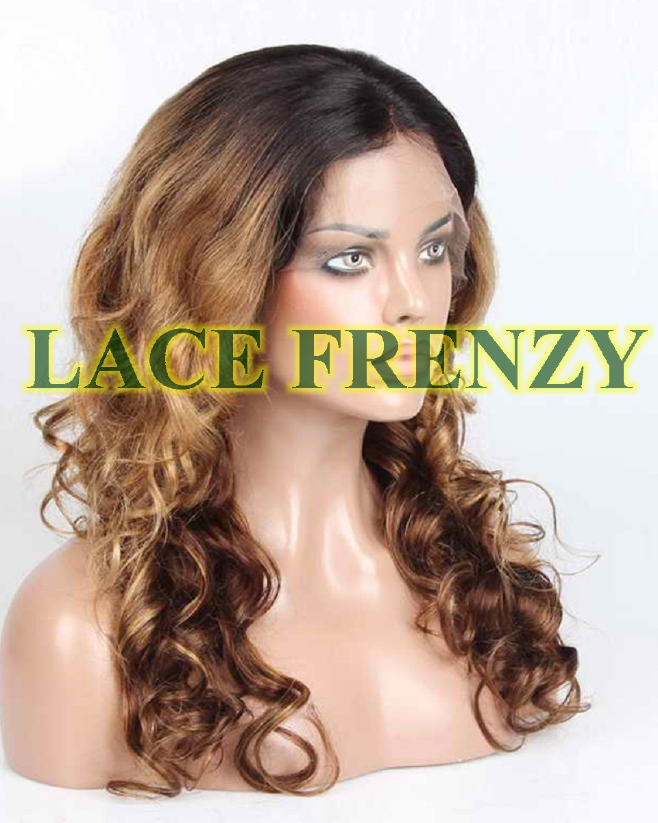 Amasalee - 20 Inches Indian Remy Hair Two Toned Lace Front Wig