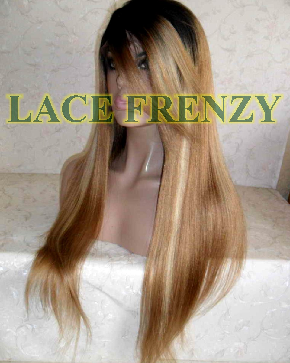 Dakota -22 inches - indian remy hair- light yaki w/ side bang - lace front wig