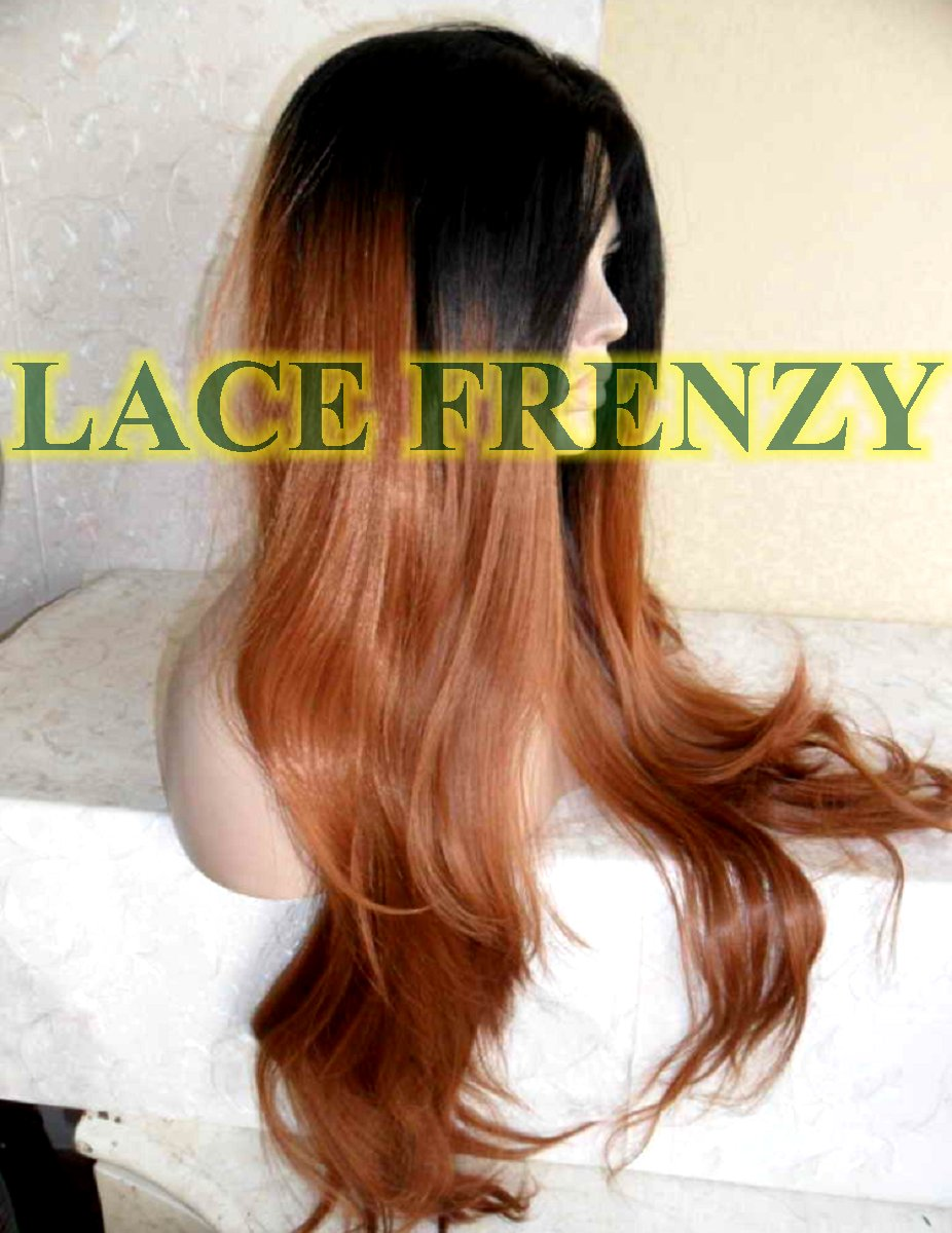 Ombre Loose body curl heat safe lace front wig