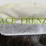 Scalloped men toupee inside cap