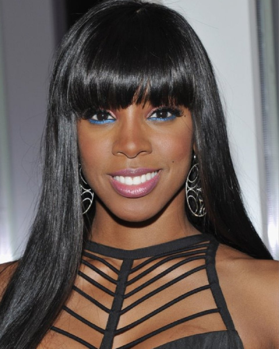 Kelly Rowland- Indian Remy Hair- Light Yaki w/ Handtied Bang - Lace Front Wig Replica