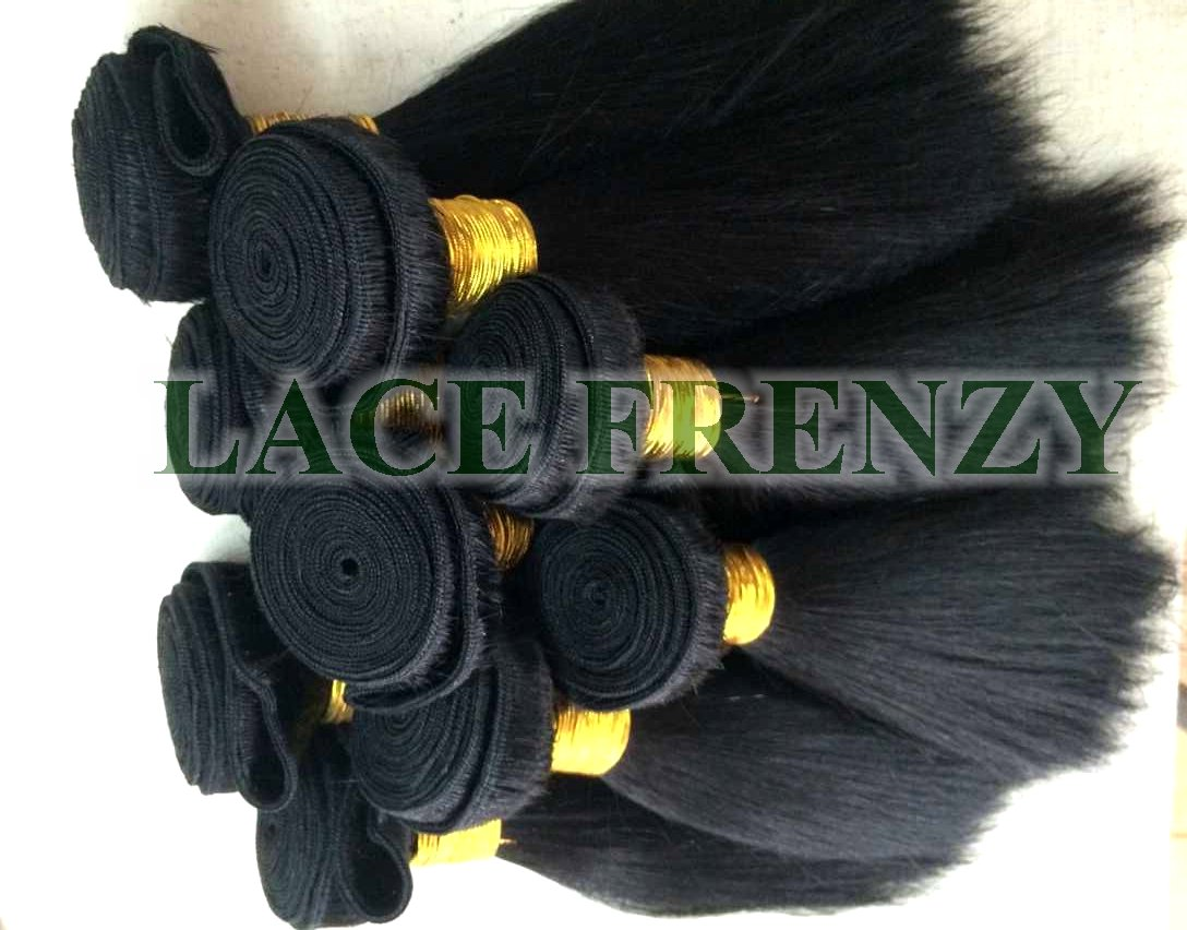 Grade 8A virgin kinky straight 100g machine weft hair extensions