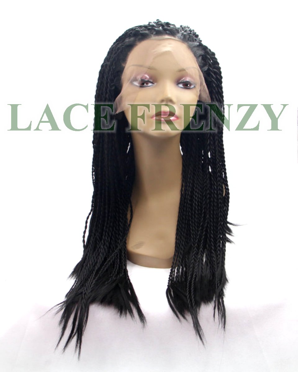 Angie Nubian Twist Braid Pre Braided Lace Front Wig Lace