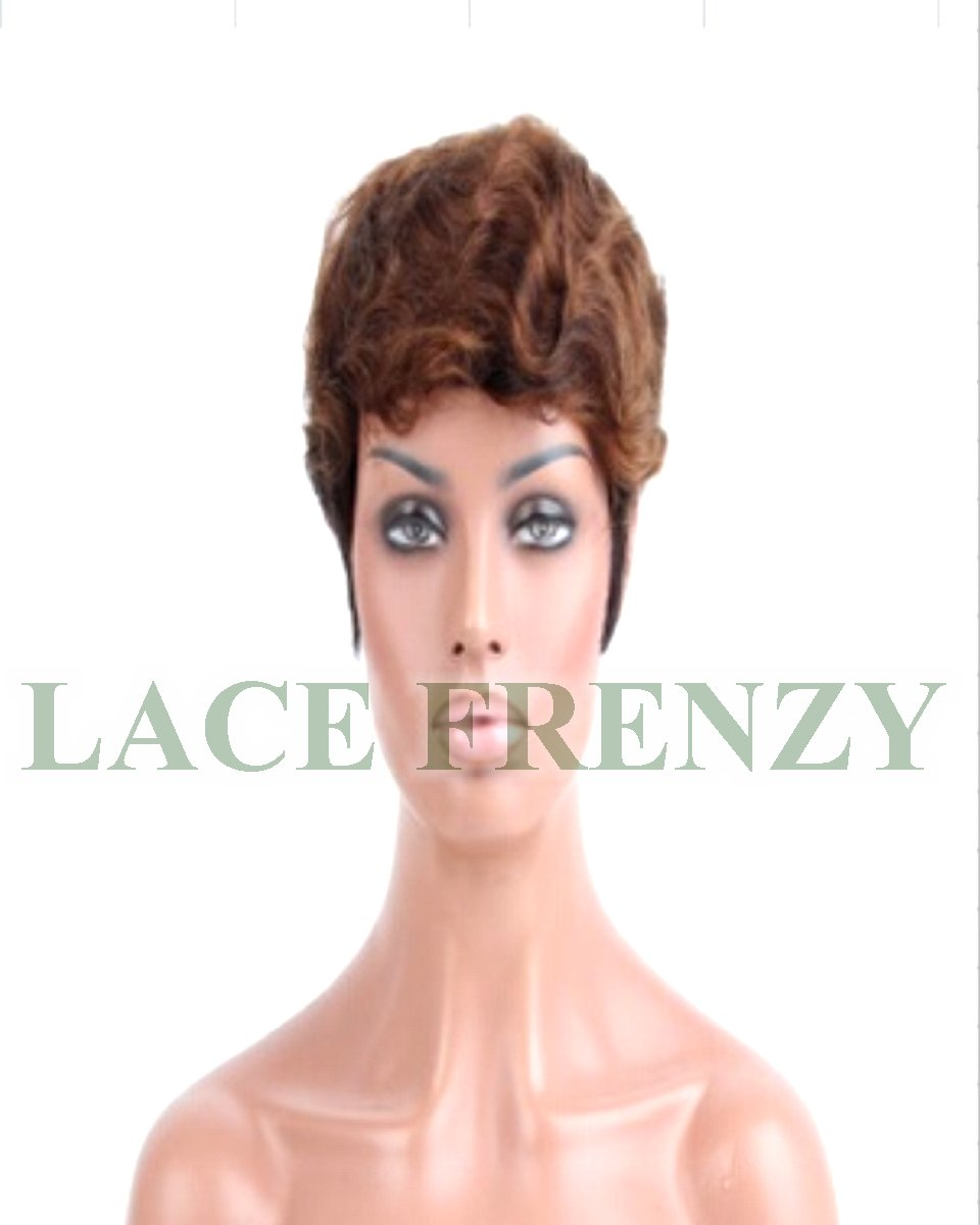 Brenda- Wavy Boy cut - Indian Remy Hair- Machine Made Wig