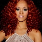 Rihanna- Red Curls- Custom Celebrity Lace Wig