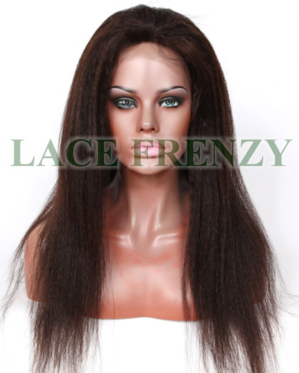 Scarlett - Malaysian Virgin Hair- Italian Yaki - Silk Top Full Lace Wig