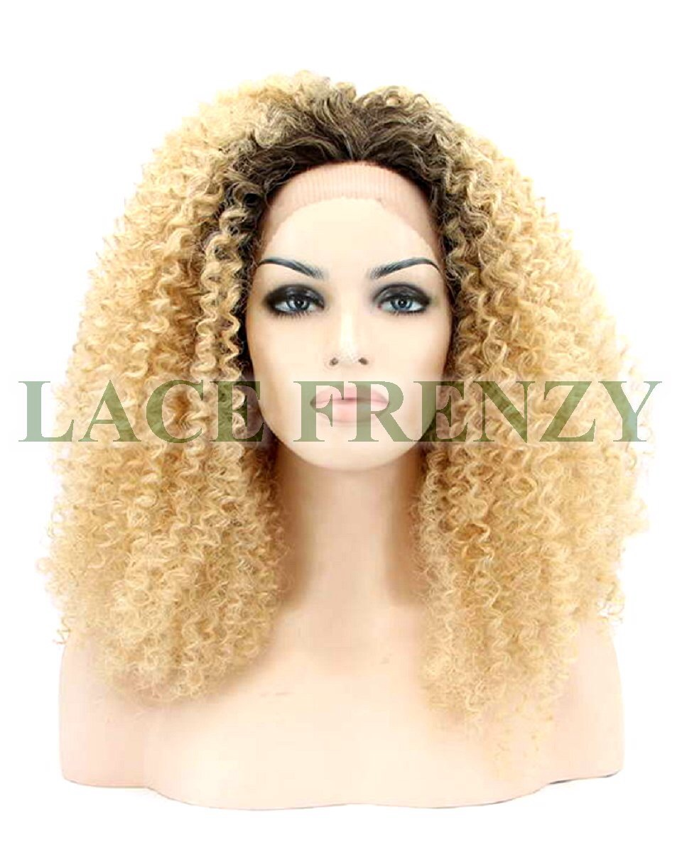 Sasha - Afro Kinky - Two Toned - Lace Front Wig