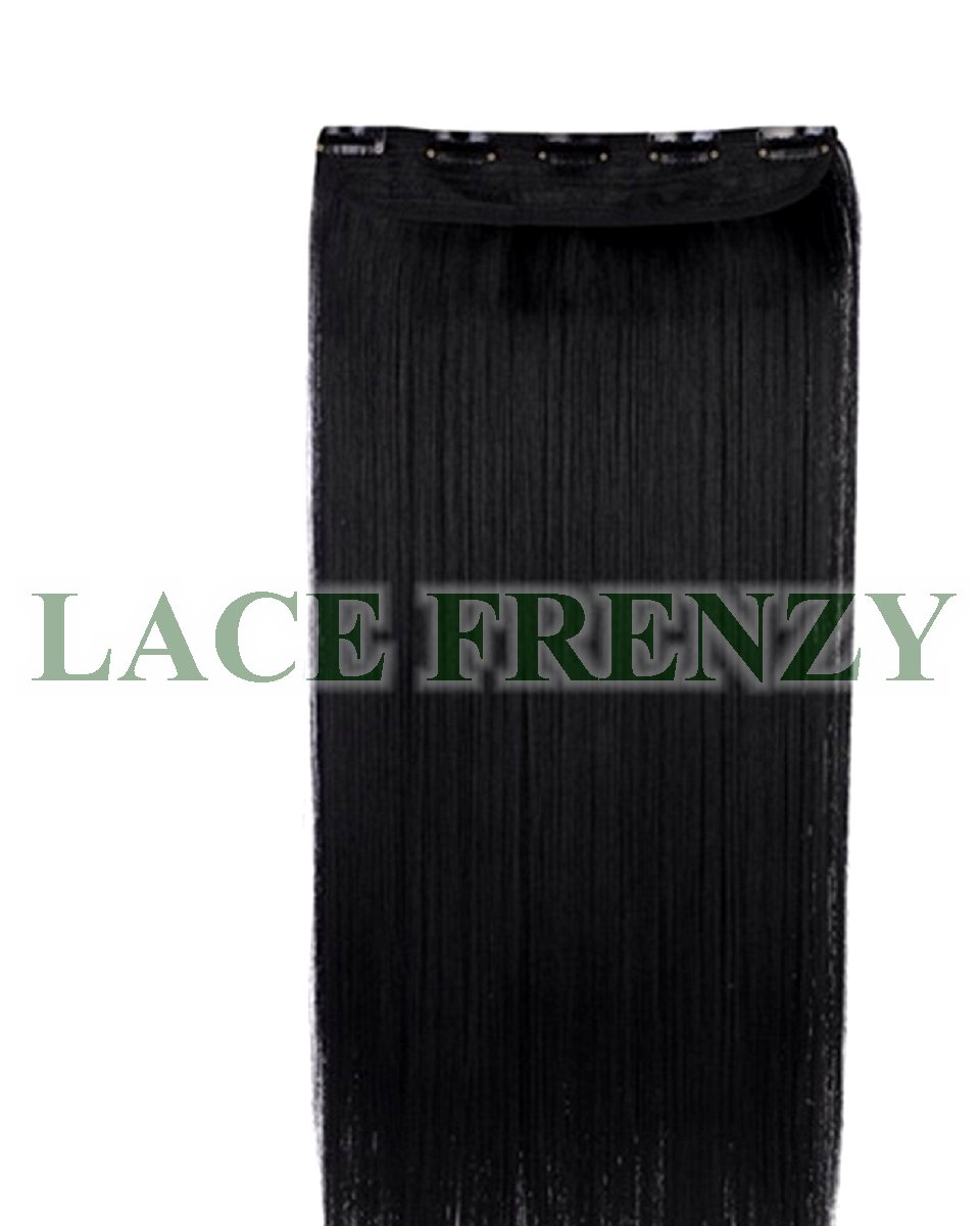 SIlky Straight - Grade 7A Virgin Hair - Double Drawn - One Piece Clip-In Hair Extension
