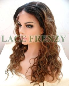 Irena - 20 Inches - Two Toned- Body Wave w/ Center-Part - Lace Front Wig