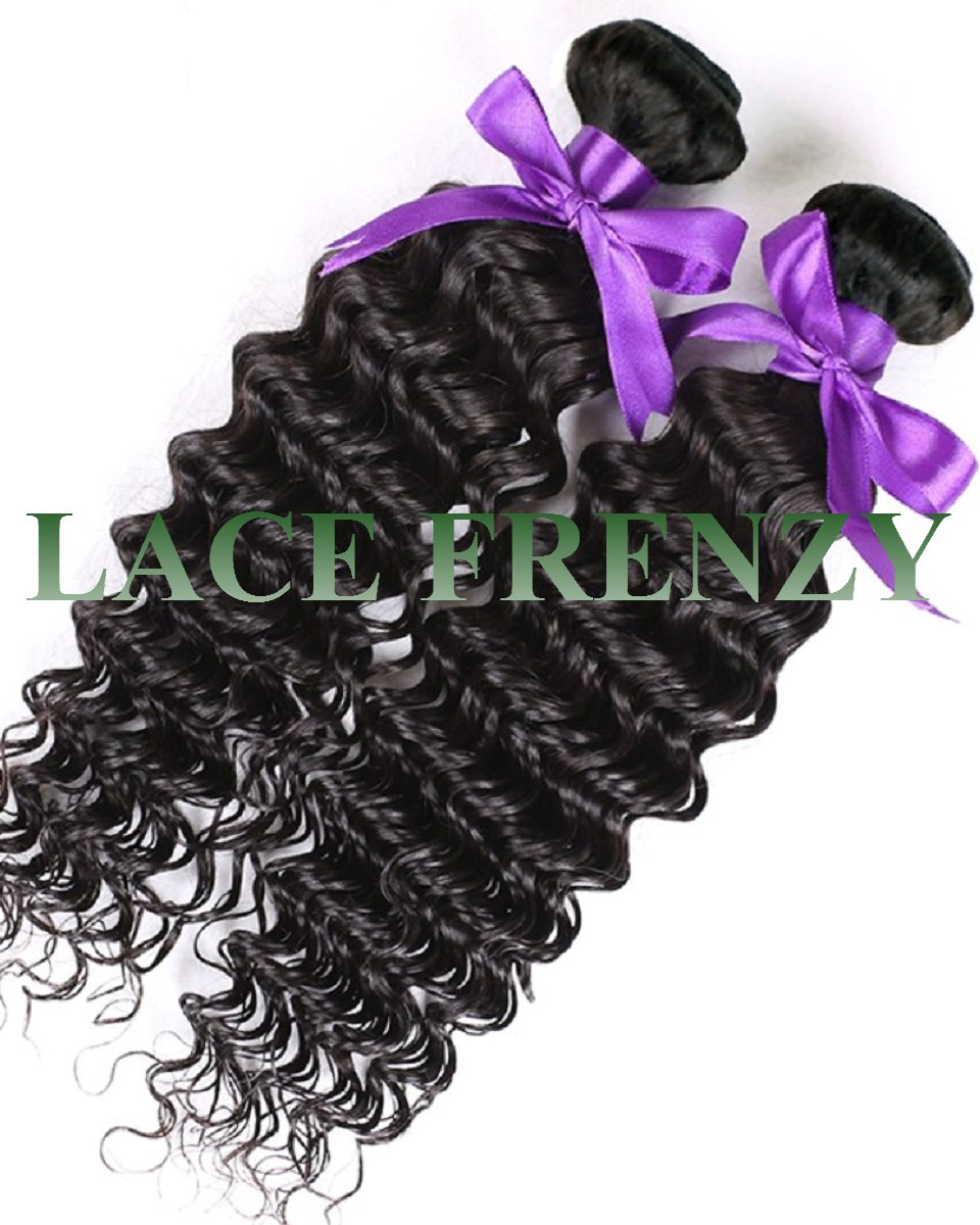 Grade 8A Virgin Human Hair - Deep Curly - 200G Machine Weft Bundle Kit