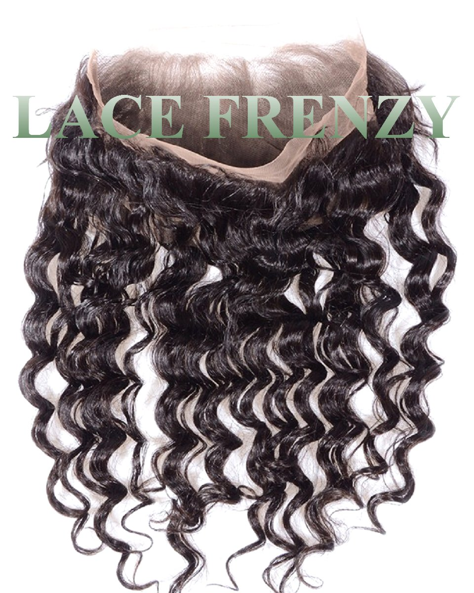 Custom - Loose Wave - Brazilian Virgin Human Hair - 360 Lace Frontal