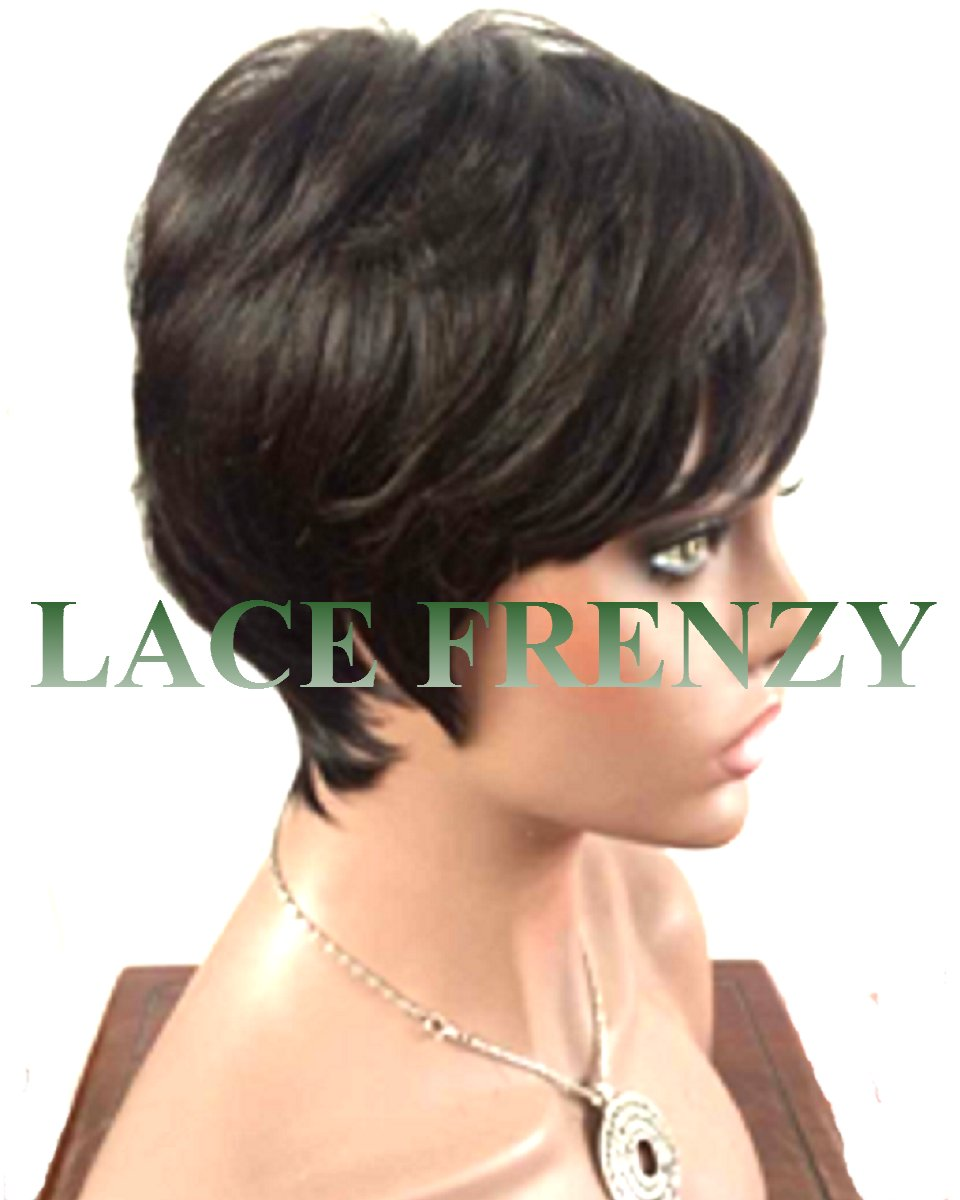 Terry - 6 Inches- Light Yaki - Human Hair - Machine Made Wig