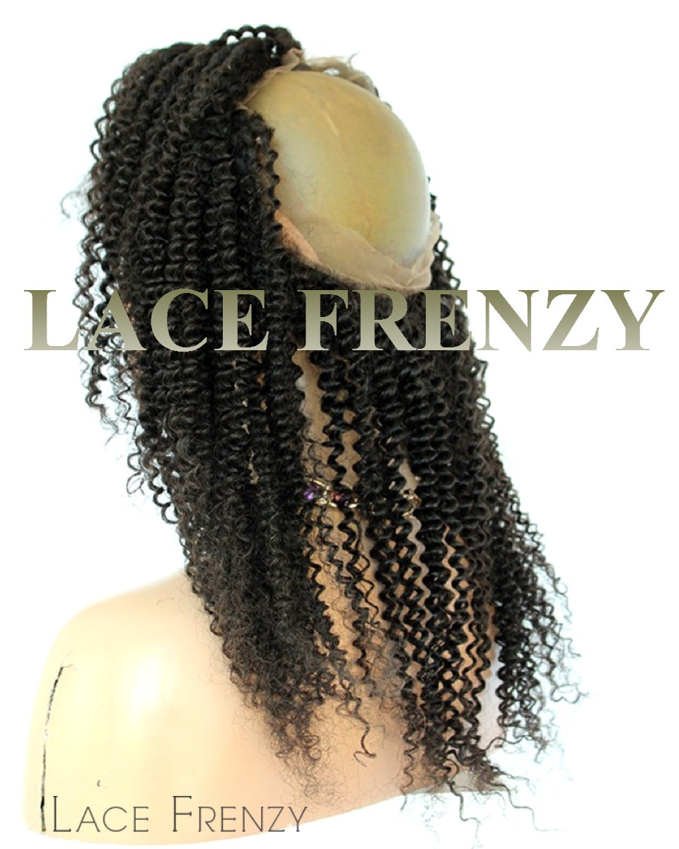Brazilian Virgin Human Hair - Kinky Curly 360 Band Lace Frontal