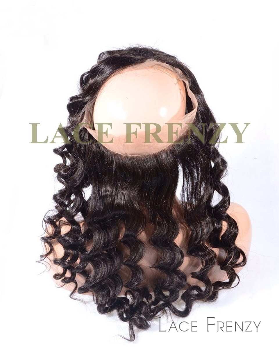 Peruvian Virgin Human Hair - Body Curl - 360 Lace Frontal