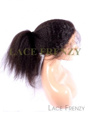 Virgin Human Hair - Kinky Yaki Straight- Silk Base 360 Frontal w/2 Bundles