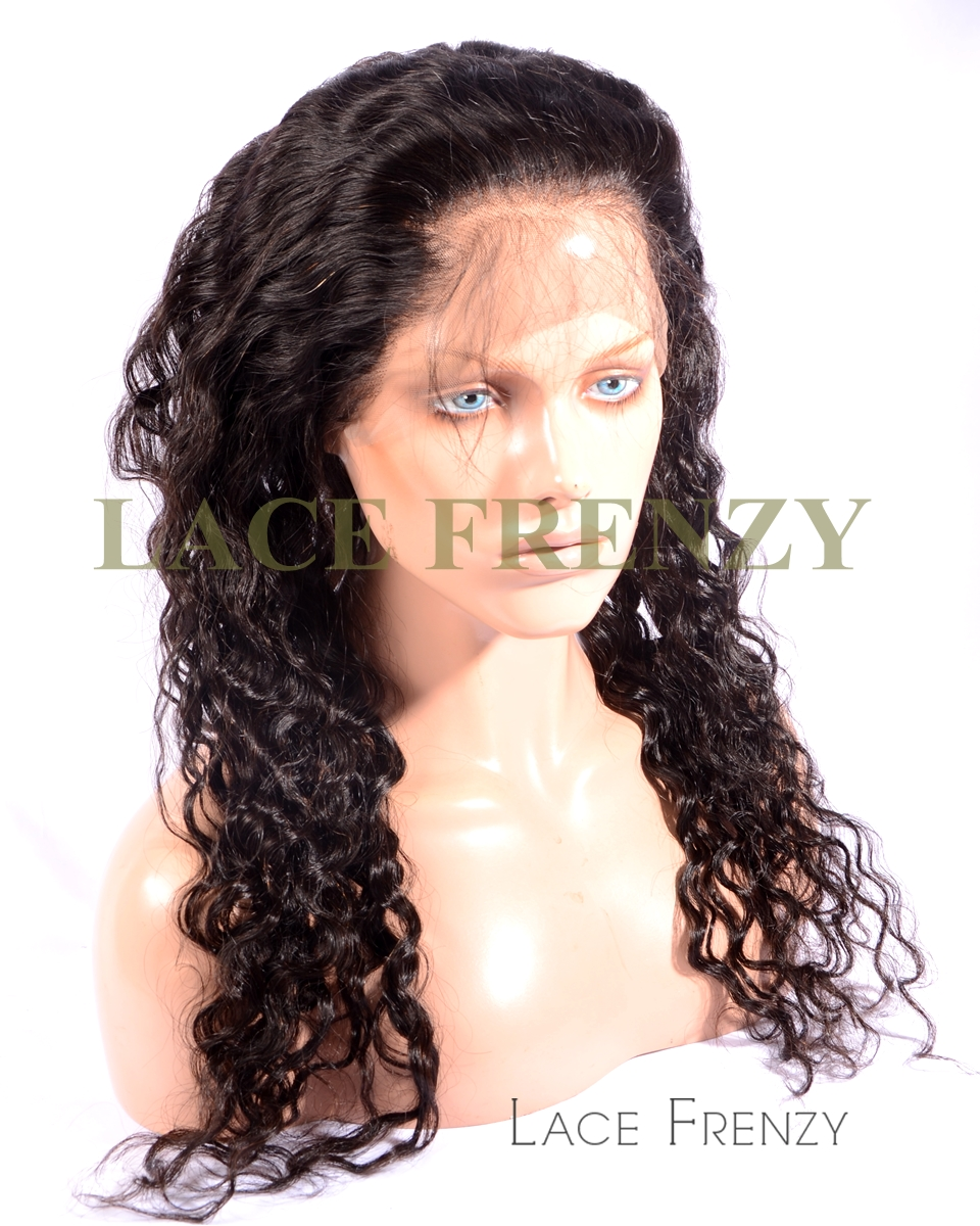 Brazilian Virgin Human Hair - Deep Curly- 360 Lace Frontal