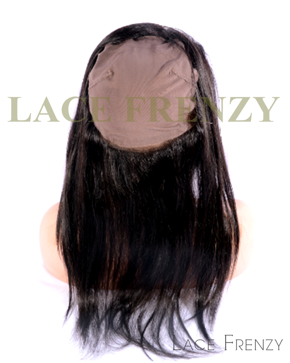 Virgin Human Hair - Straight- 360 Lace Frontal with Cap