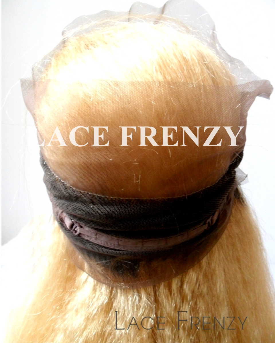 Custom Ombre' Brazilian Virgin Hair - Kinky Straight - 360 Frontal with 2 Bundles