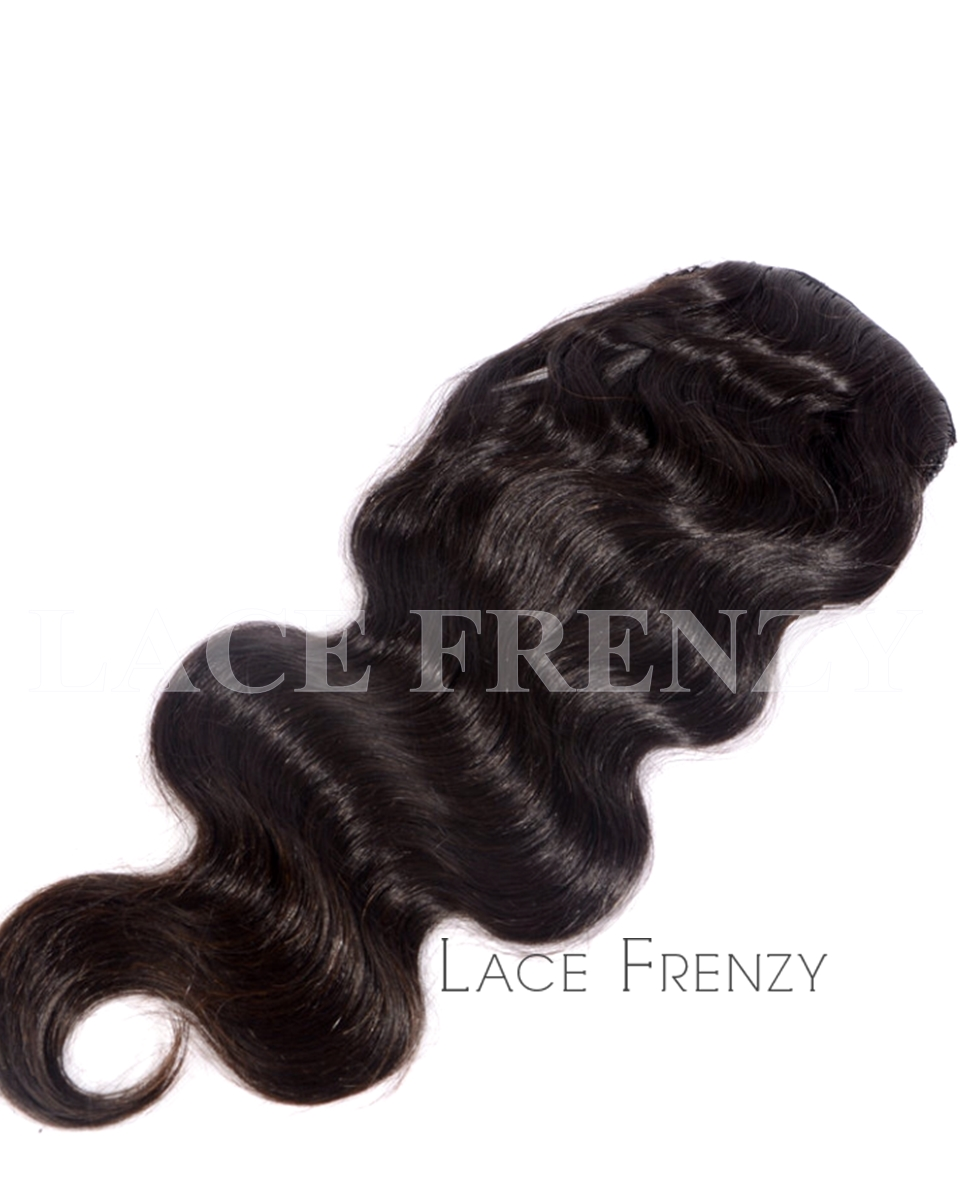 Virgin Human Hair - Body Wave - Drawstring Ponytail