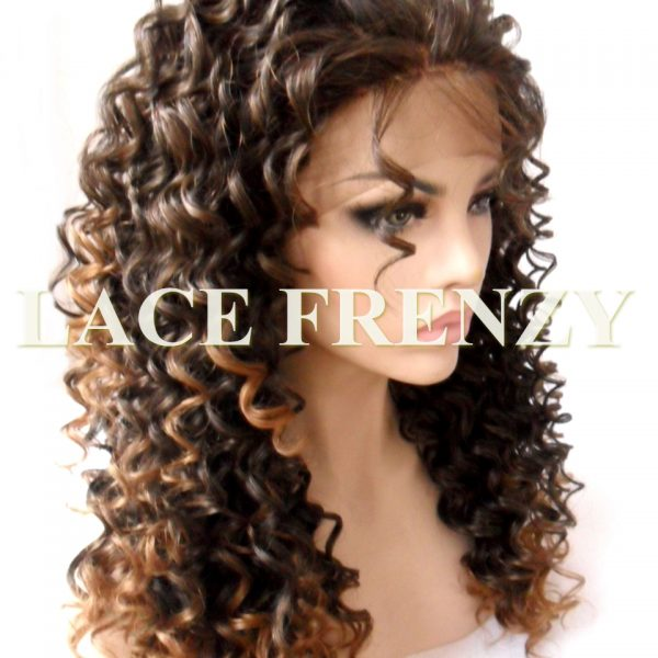 Candi Spiral Curls Two Toned Lace Front Wig Lace Frenzy