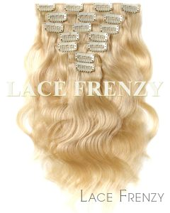 European Virgin Hair -Wavy- Clip-In Hair Extension