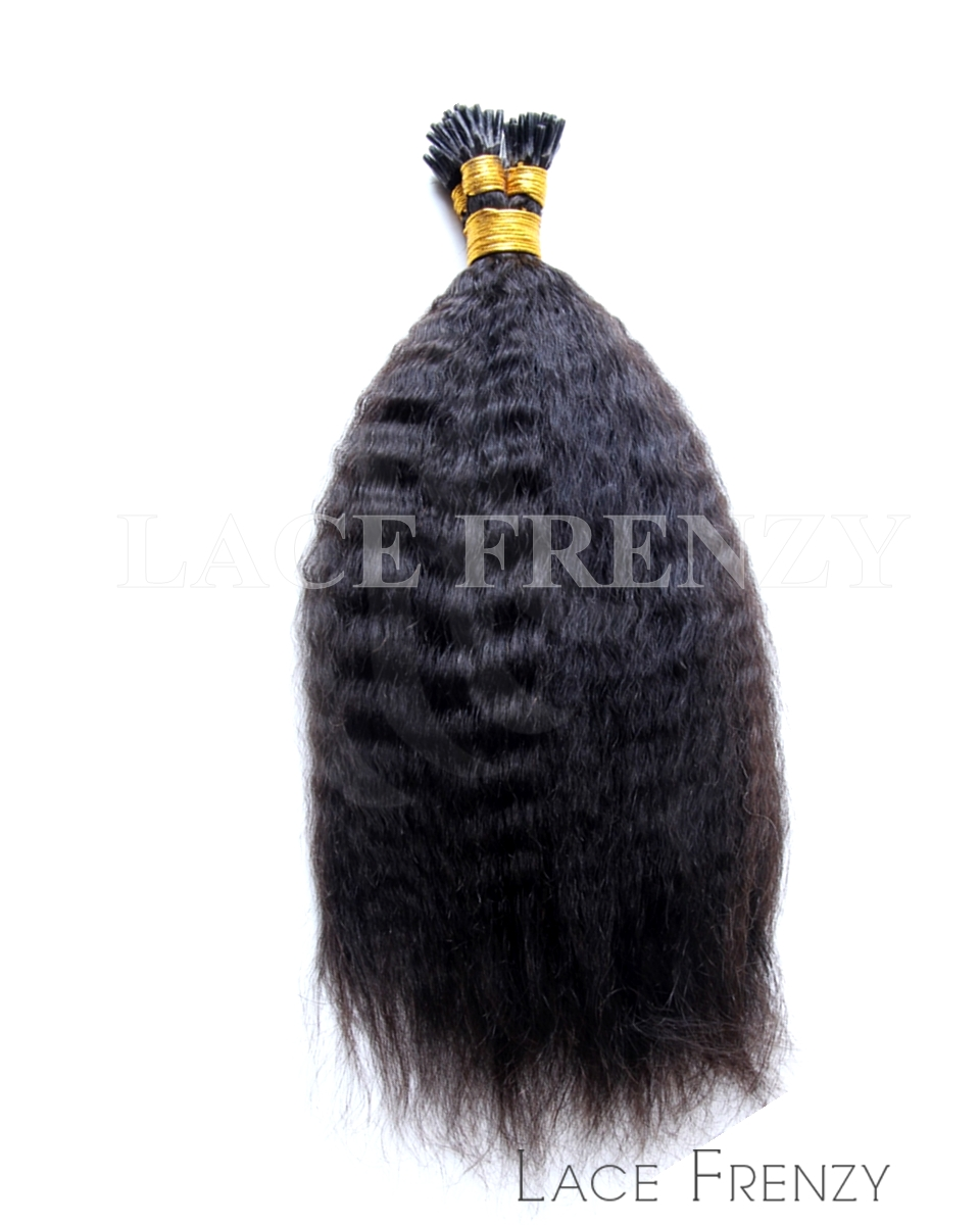 Kinky Straight - 100g I-Tip Human Hair Extension