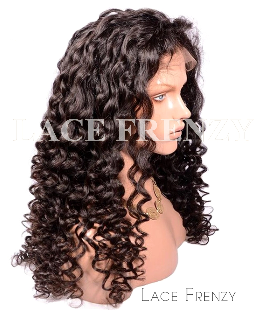 MaryJane- Italian Curly - Brazilian Virgin Hair - Full Lace Wig
