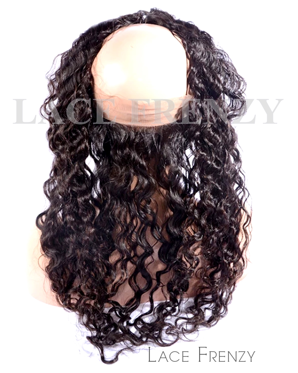 Deep Curly -Virgin Human Hair - Silk Base 360 Lace Frontal