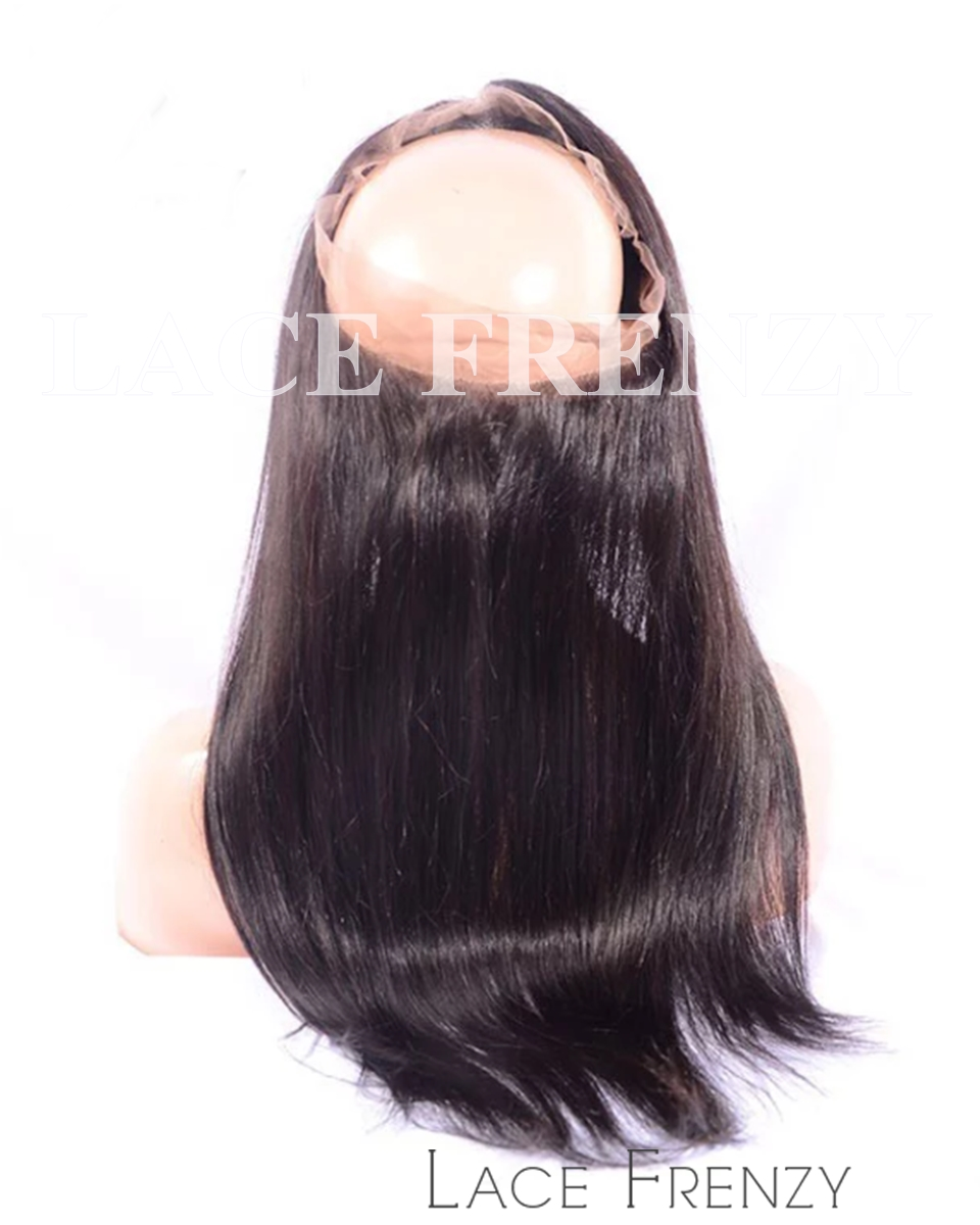 Straight -Virgin Human Hair - Silk Base 360 Lace Frontal
