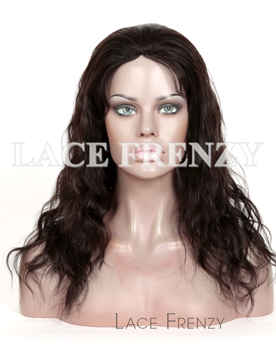 Virgin Human Hair - Natural Wavy- Full Thin Skin Wig