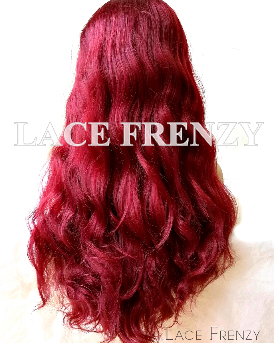 Ruby- Burgundy Body Wave - Lace Front Wig