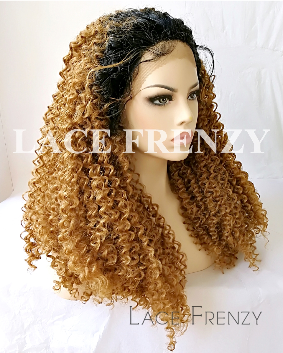 Bella - Two Toned Kinky Curly - Lace Front Wig