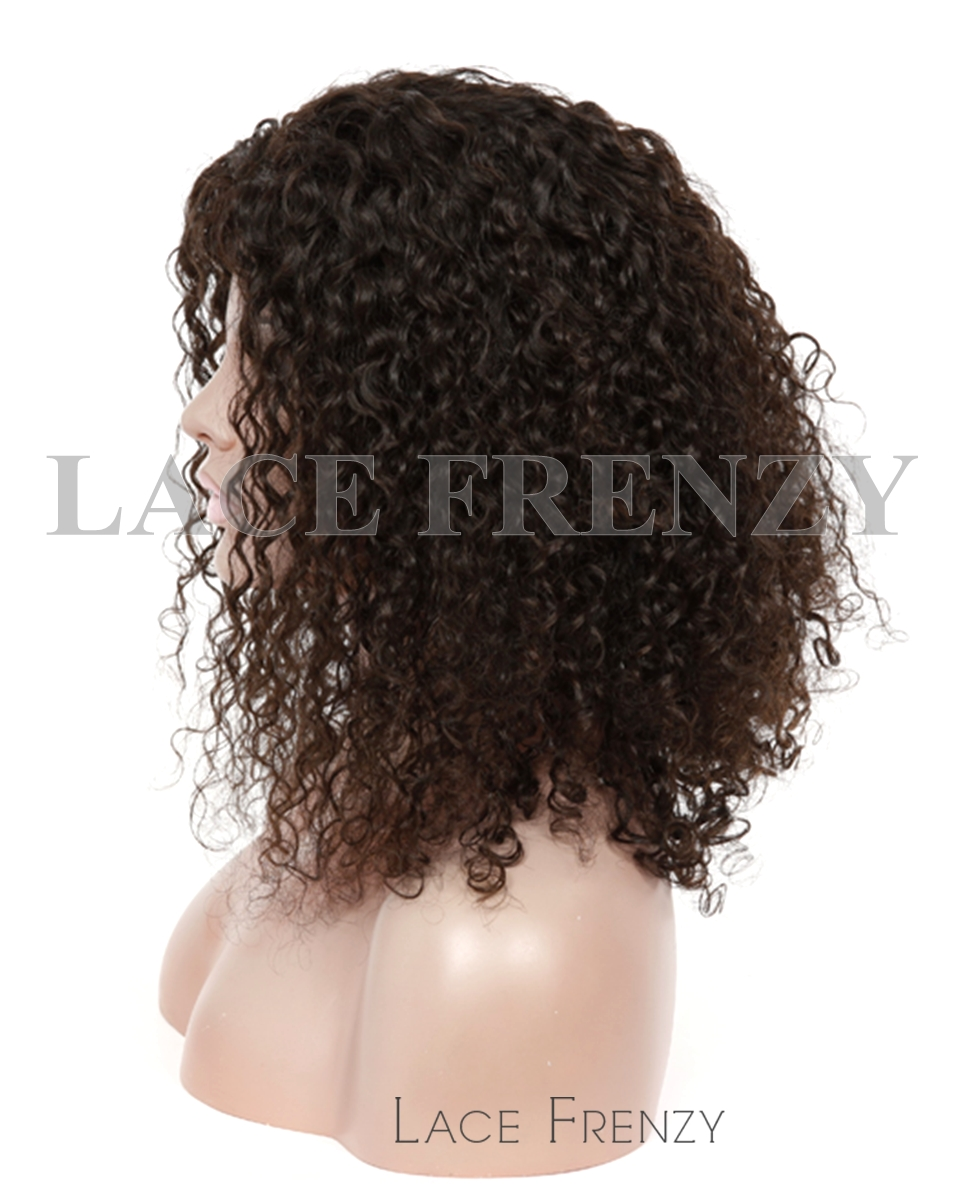 Darlena - Chinese Virgin Hair 16 Inches Tight Curl 10mm Glueless Lace Wig
