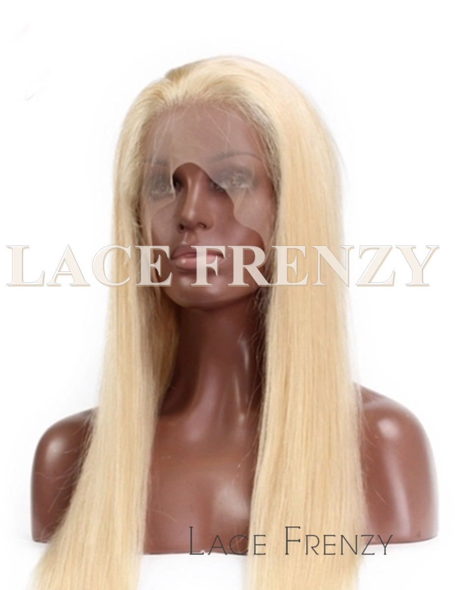 Brazilian Virgin Human Hair -#613 Straight - 360 Frontal Wig