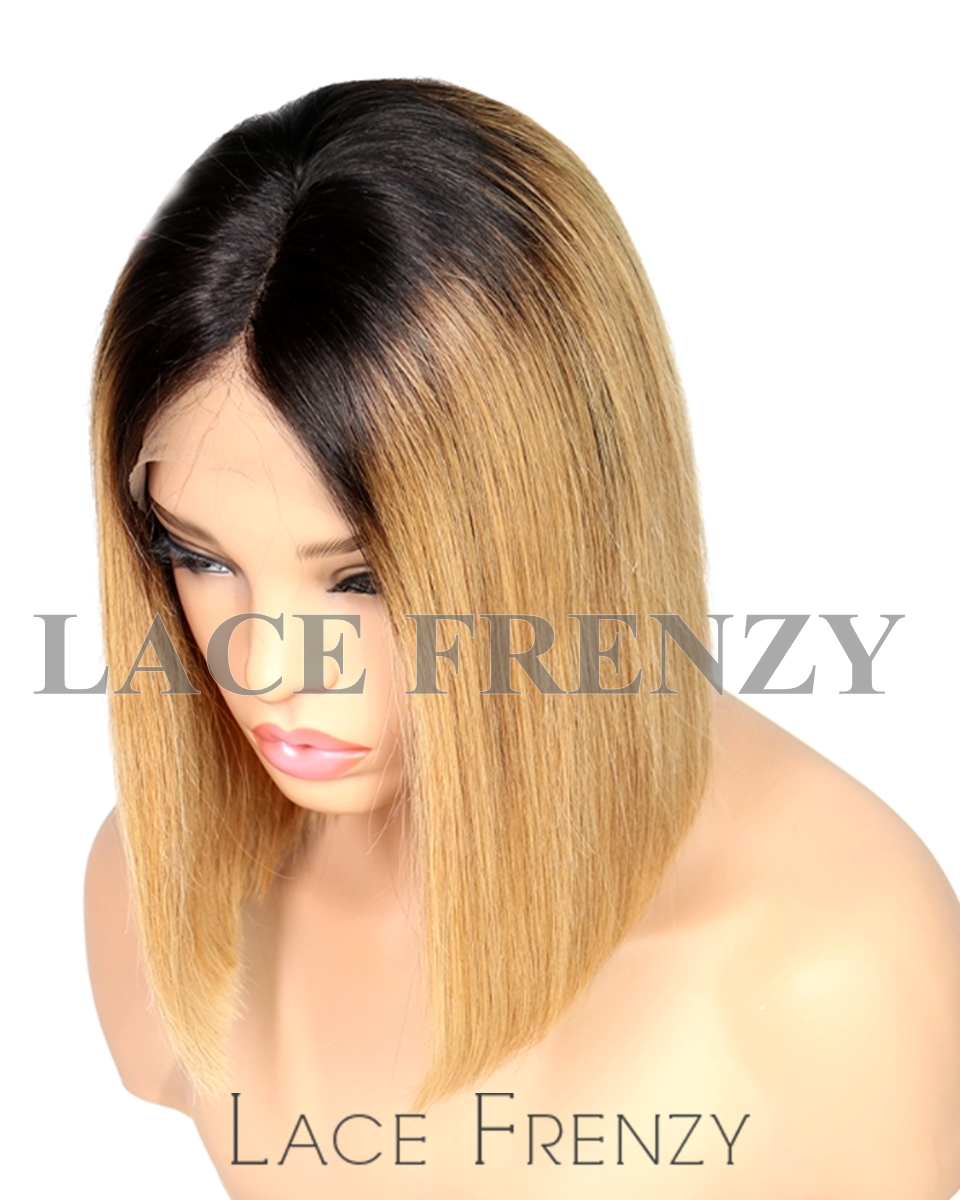 Isis - Bob Styled Two Toned - Brazilian Virgin Human Hair Lace Front Wig