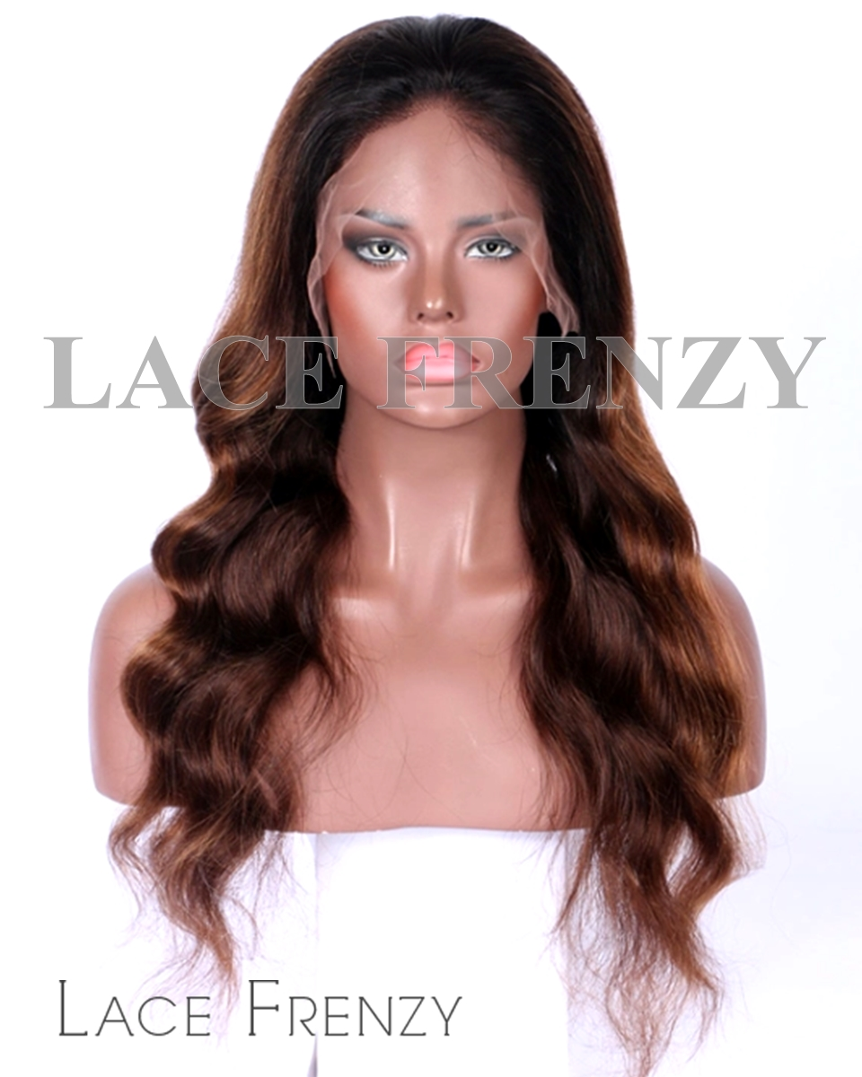 Lavern- Loose Wave With Highlights -Virgin Human Hair - Full Lace Wig