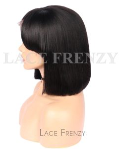 Grier Bob Styled With Hand-tied Bang Brazilian Hair Lace Front Wig