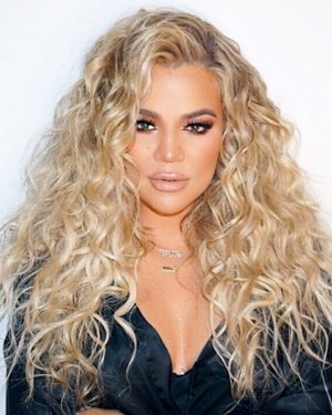 Khole Kardashian - Two Tone Deep Curly - Custom Celebrity Lace Wig