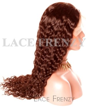 Custom Color Deep Wavy -Brazilian Virgin Human Hair - 360 Frontal Wig