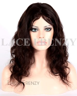 Misha - Natural Wave - Brazilian Virgin Hair Silk Top Glueless Full Lace Wig