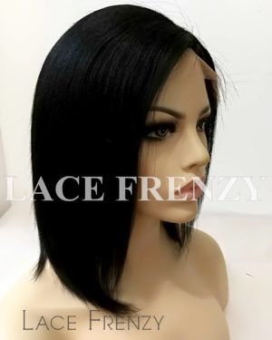 Olive - Light Yaki - Virgin Human Hair Bob Cut Lace Front Wig