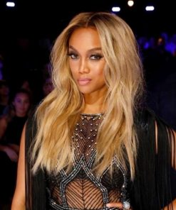 Tyra Banks Slight Wave Dark Roots - Celebrity Custom Lace Wig