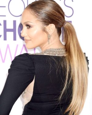 Jennifer Lopez Semi Custom Silky Straight Virgin Human Hair Ponytail Extension