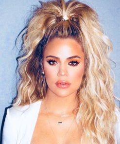 Khloe Kardashian Semi Custom Wavy Blonde Virgin Human Hair Ponytail Extension