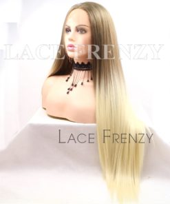 Melody 22 Inches Ombre' Straight Lace Front Wig